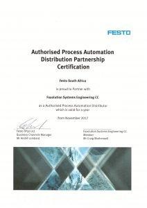 Festo certificate