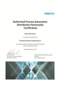 Festo certificate - Foxolution Systems Engineering CC