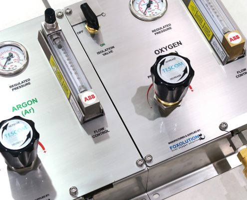 Lab Gas Terminal - Distribution Plate - Foxolution Systems Engineering CC